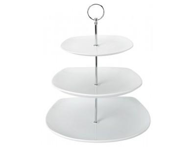 Titan Square 3 Tiered Ceramic Plate...