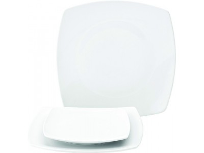 """Titan Rounded Square Plate 9.5"""" (24cm)"""